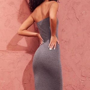 PrettyLittleThing Charcoal Bodycon Dress